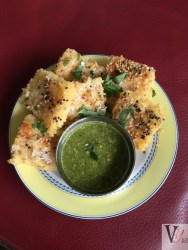 Khaman Dhokra with coriander Chutney