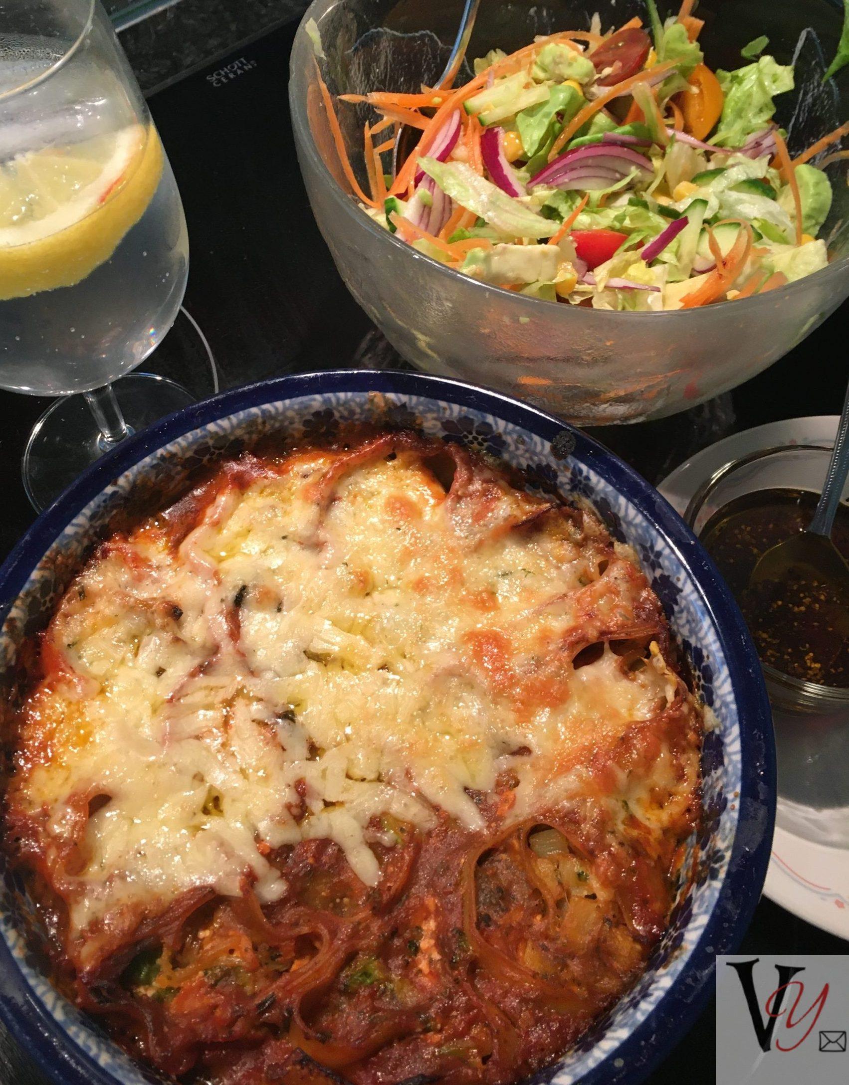 Rotolo and salad