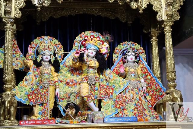 Adorned deities in Temple