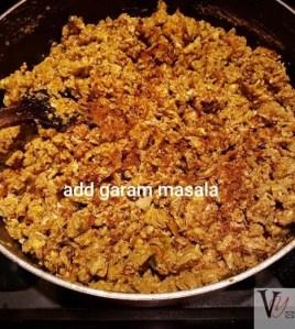 Egg bhurji with masala