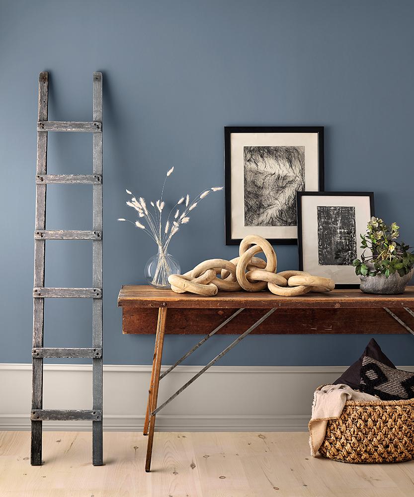 Blue room design in Haven