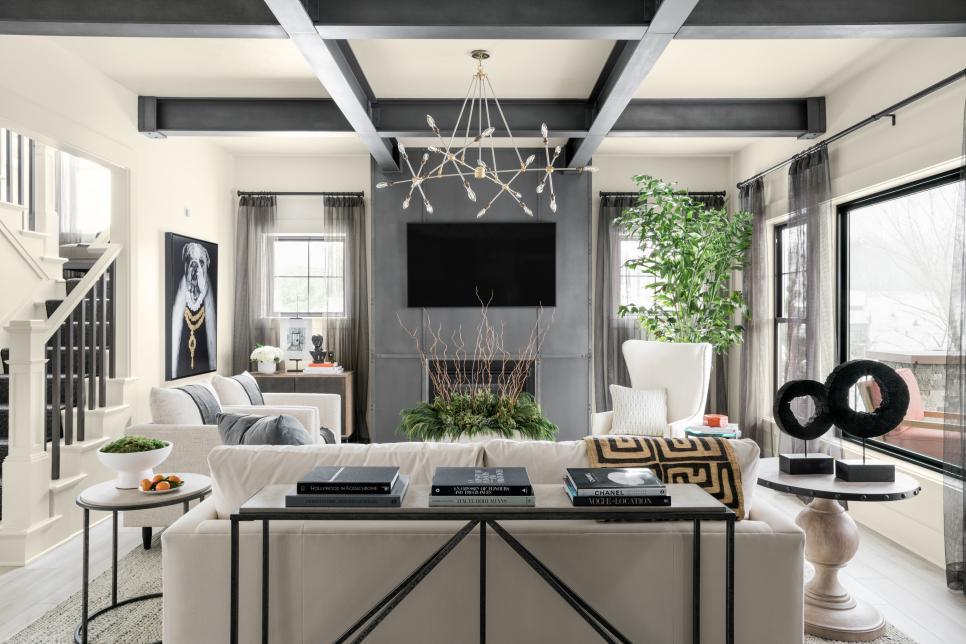 living room of the HGTV smart home