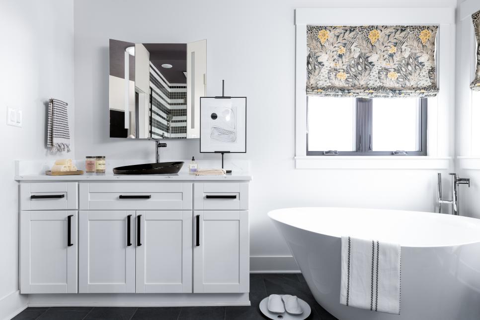 master bathroom of the HGTV smart home