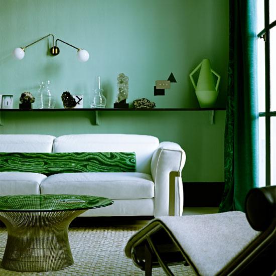 Gemini Green living room design