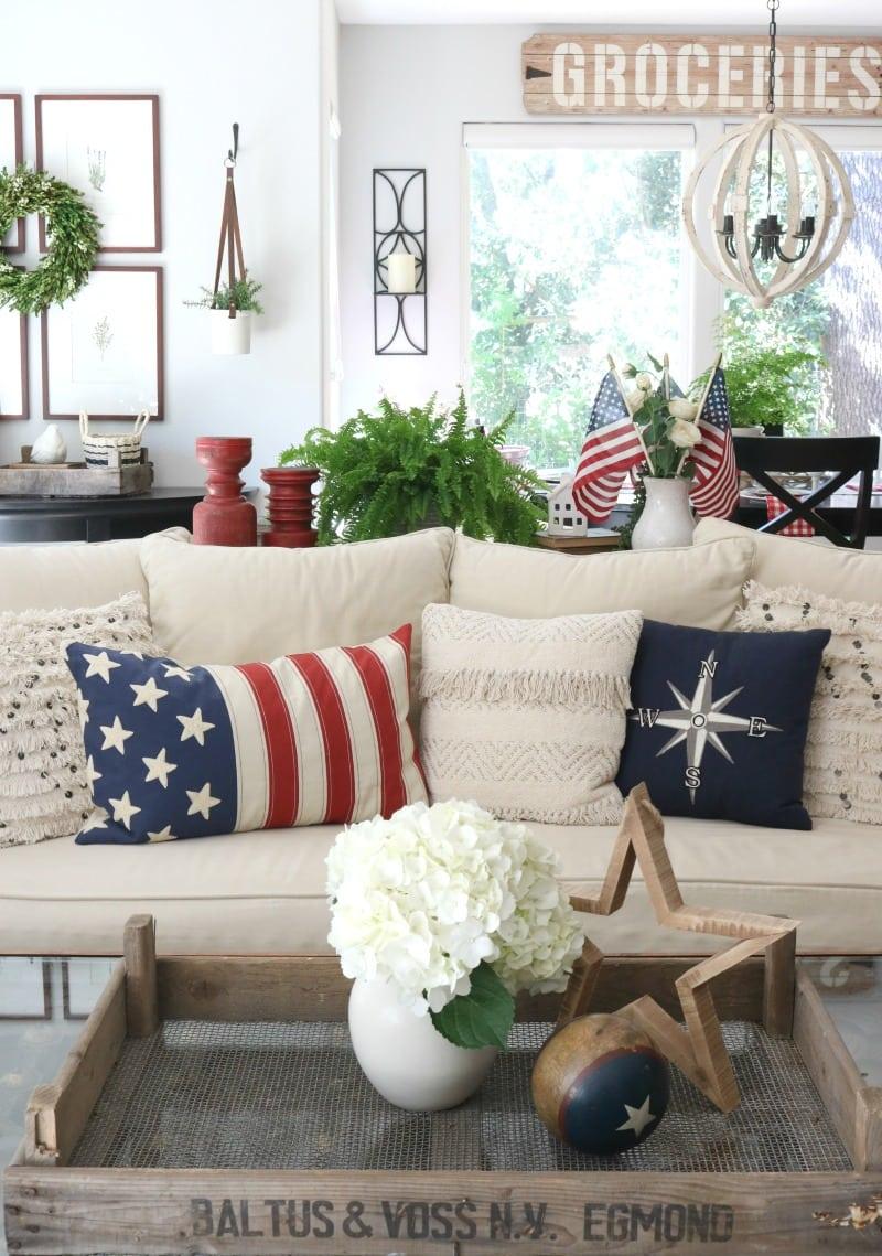 Patriotic seat cushions