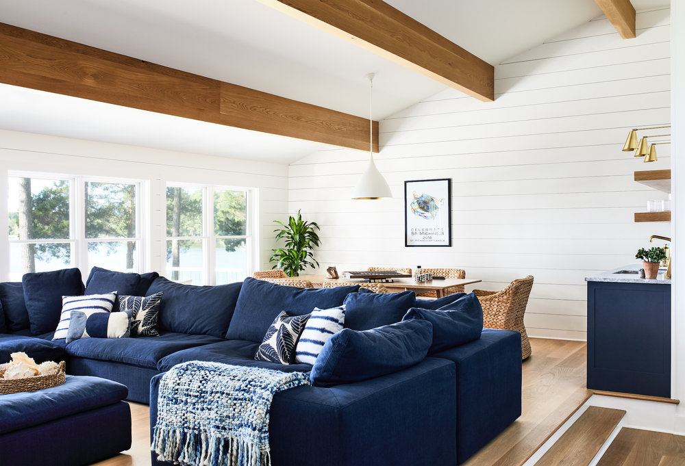 diy wood panel accent wall featuring ship lap in living room