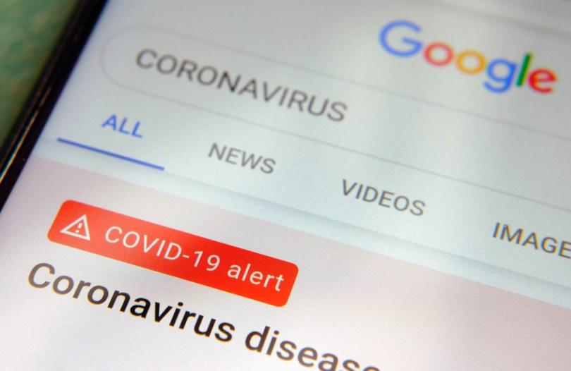Effetti del Coronavirus sulla Serp di Google
