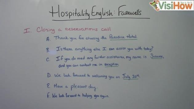 Use Hospitality English to Bid Farewell to Guests  VisiHow