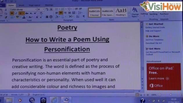 Write A Poem Using Personification VisiHow