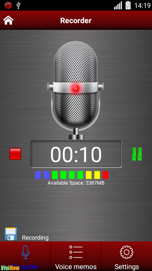 Voice Memo Apps for Android Green Apple Studio Voice recorder vs Easy Voice Recorder vs Top
