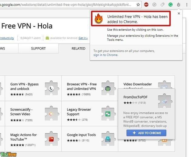install free vpn hola