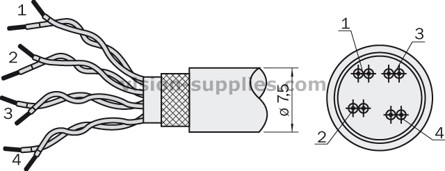 Sick LTG-2308-MW TWISTED PAIR CABLE 6026292
