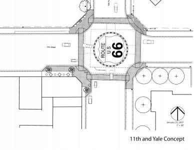 11th Street & Yale Avenue Streetscape