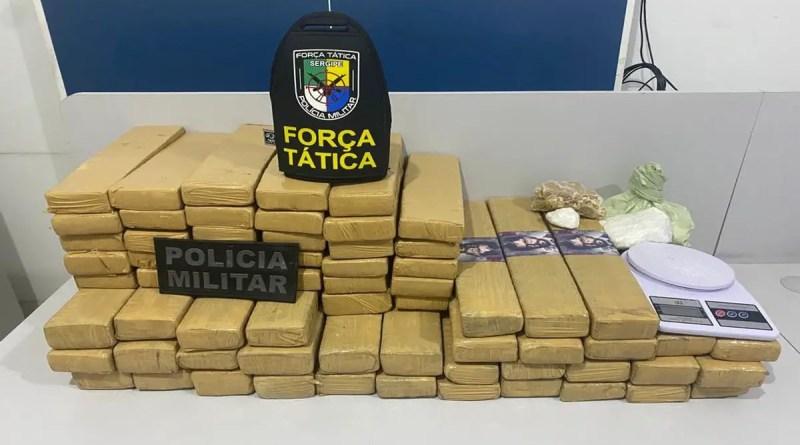 Três mulheres são presas e 66 kg de drogas são apreendidos na Grande Aracaju | Sergipe
