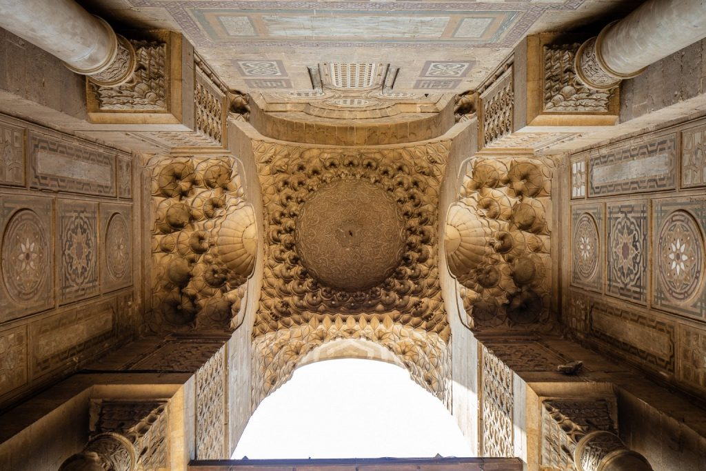 Corbels, domes and pillars, honeycomb architecture that interplays form and space