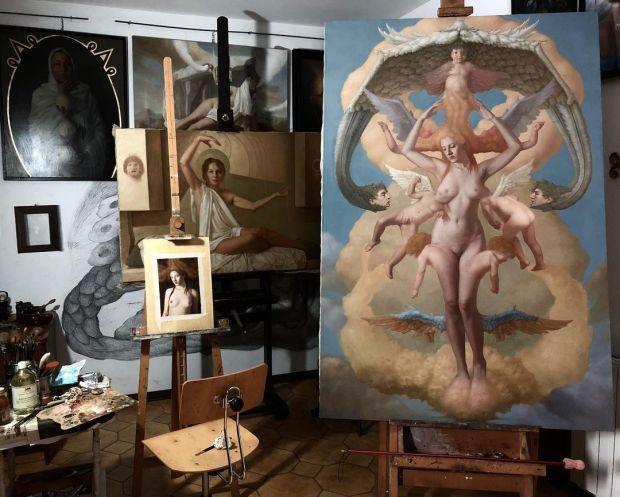 La Madre degli Angeli in studio by Adrian Ofida