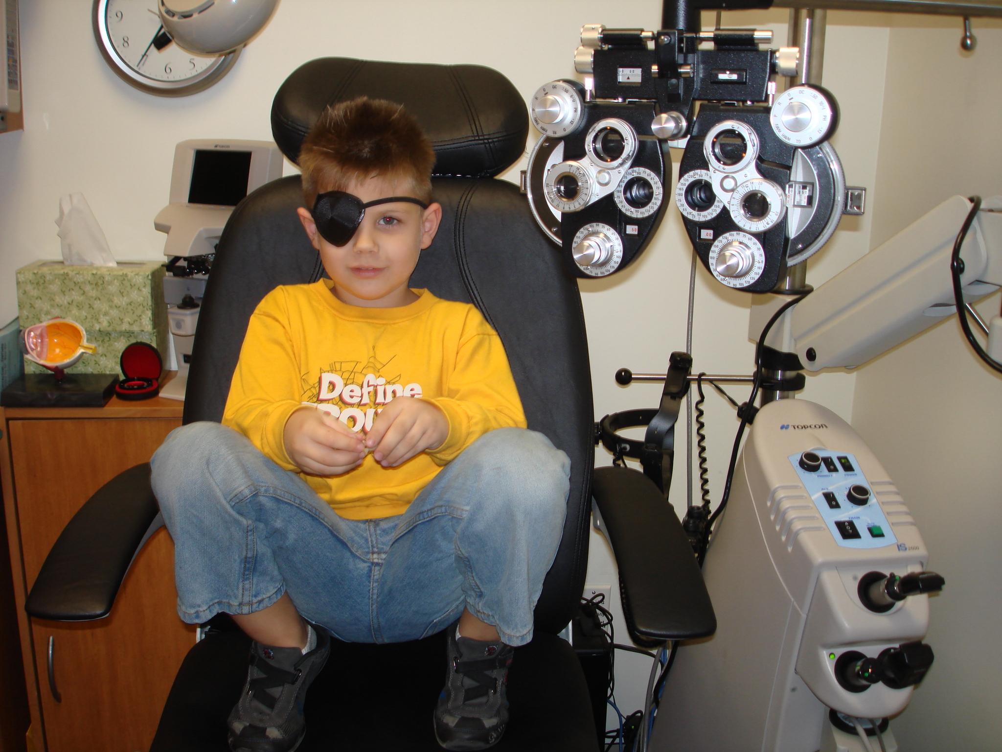 Jacob in the Eye Exam Room