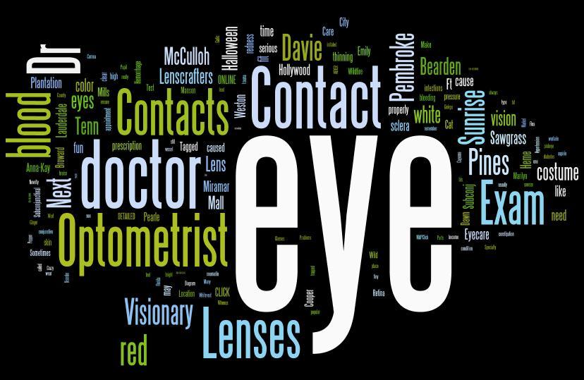 A Visual Representation of the Visionary Eyecare Blog