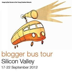 the Orange Silicon Blogger Bus tour