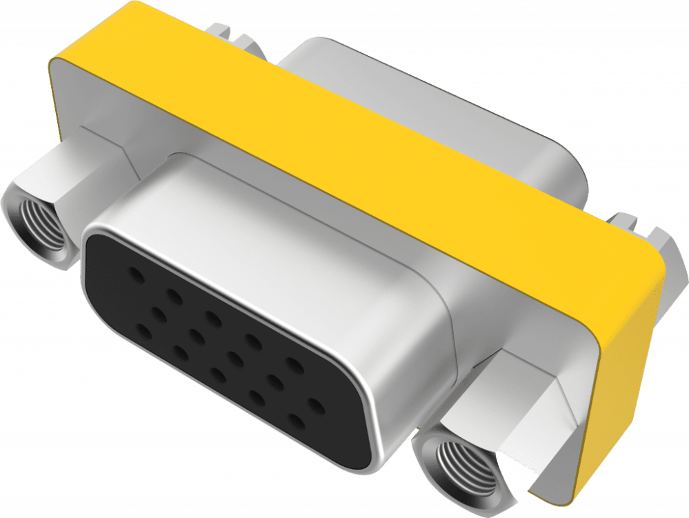 medium resolution of connects two 15 pin mini d sub vga cables together