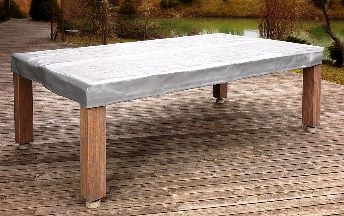Vision Outdoor convertible dining pool fusion table with cover by Vision Billiards 1