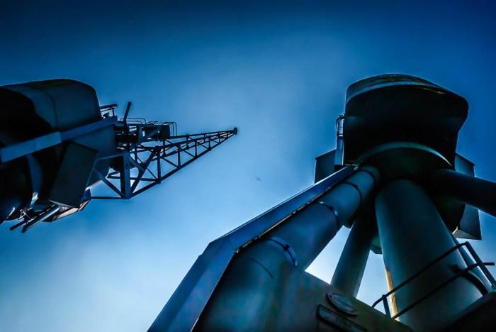 Old dock cranes