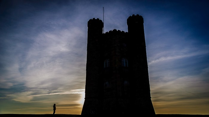 Broadway Tower - silhouette