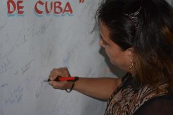 Acto de rechazo al bloqueo de Estados Unidos a Cuba. Efectuado en la sede José de la Luz y Caballero el 27 de octubre de 2016. UHO FOTO/Luis Ernesto Ruiz Martínez..