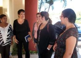 La Dr. C. Rosa Miriam Elizalde, editora de Cubadebate, llega a la Universidad de Holguín para sostener encuentro con estudiantes y profesores de la Universidad de Holguín. UHO FOTO/Luis Ernesto Ruiz Martínez.