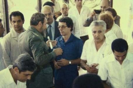 El Presidente de los Consejos de Estado y de Ministros, Comandante en Jefe Fidel Castro Ruz preside la inauguración del Centro de Ingeniería Genética y Biotecnología. Ciudad de La Habana, 1ro de julio de 1986.