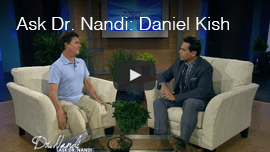 Video image: Daniel Kish appears on the TV program Ask Dr. Nandy.