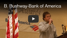 Video thumbnail: Brian Bushway delivers a keynote speech at the Bank of America Achievement Awards.