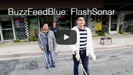 Video image: Daniel Kish walks behind WAFTB Perceptual Navigation instructor Juan Ruiz and a student.