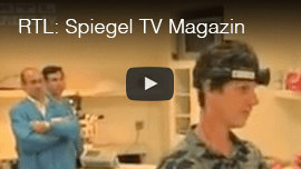 RTL Network's 'Spiegel Magazin': Video Image: Daniel Kish tests a prototype for a technical device in the studio.