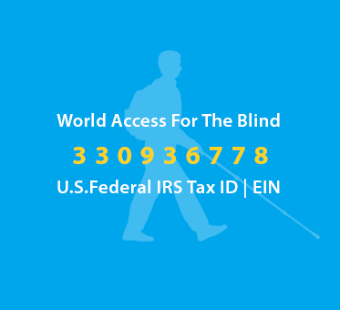 World Access For The Blind U.S. Federal IRS Tax ID | EIN 330936778.