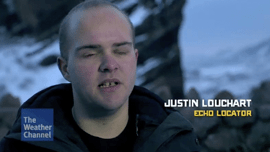 Image: J. Steele-Louchart is interviewed in Weather Channel documentary.