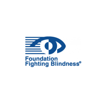 Foundation Fighting Blindness logo- Panel 1 as described in previous text.