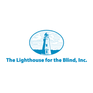 The Lighthouse For The Blind previous logo as described in previous text.