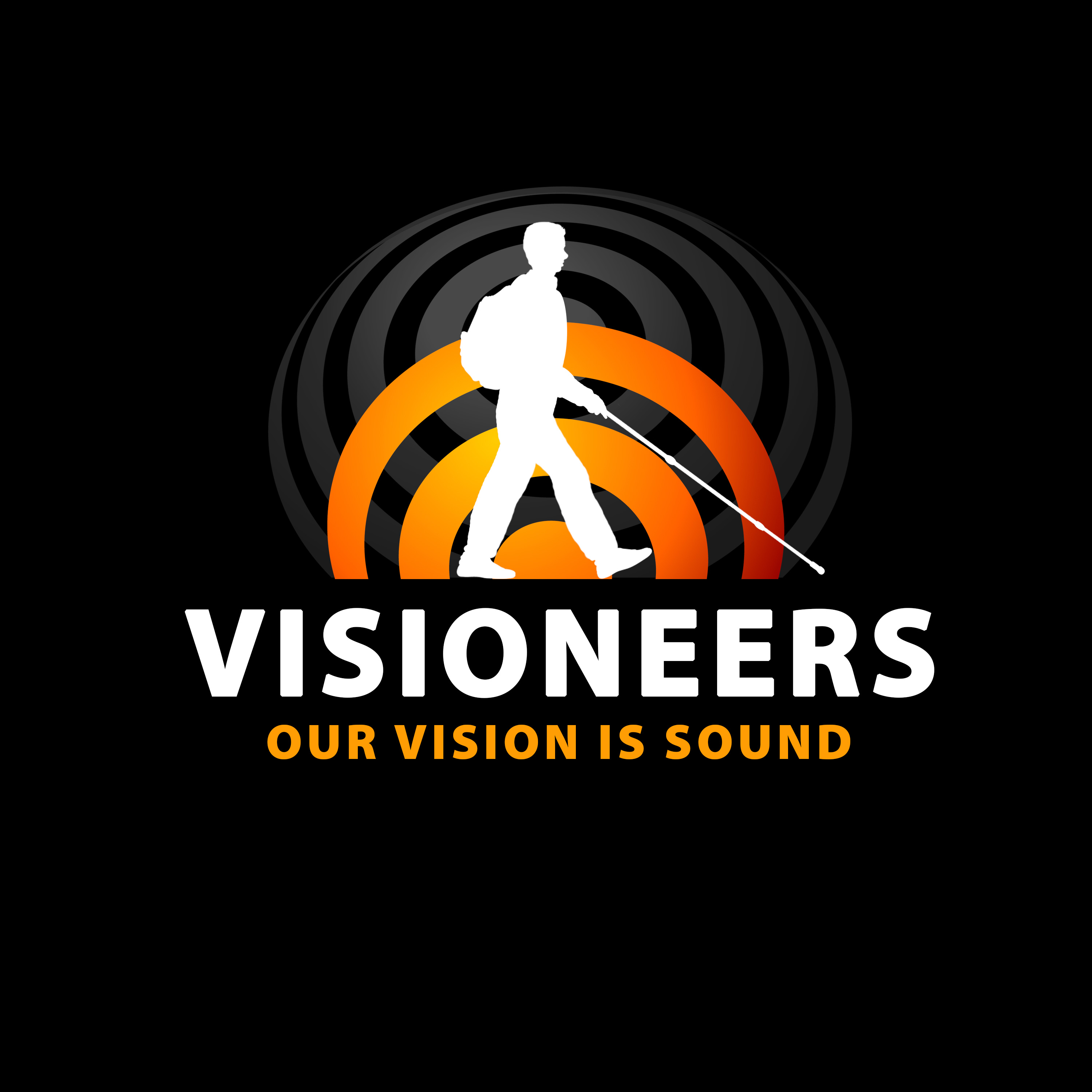 Visioneers 18b. Same as previous panel with blue elements replaced by gradient orange.