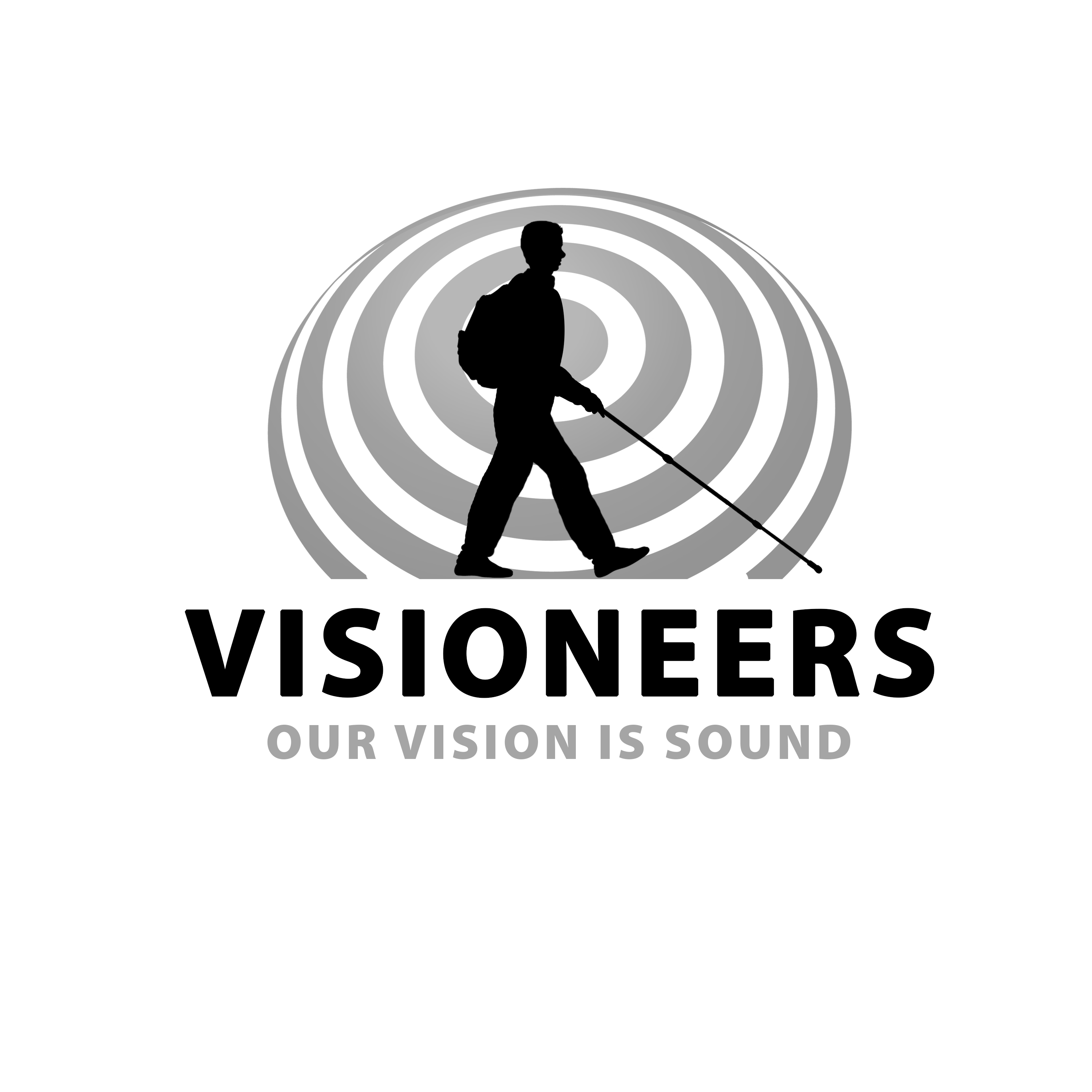 Visioneers 21. Same as previous panel in complete grescale on white background.