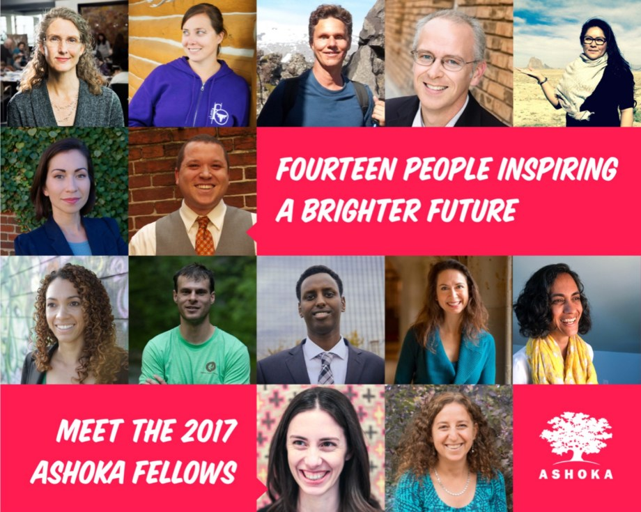 Fourteen people inspiring a brighter future. Meet the 2017 Ashoka Fellows. Daniel Kish is pictured among the honorees that year.