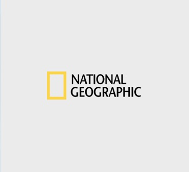 National Geographic logo with the yellow frame icon.