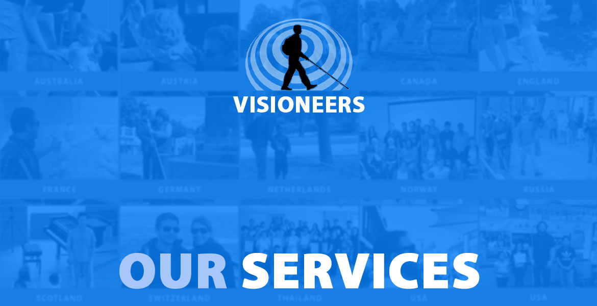 Visioneers: Our Services. Mosaic of photos of countries where Visioneers has provided various services.