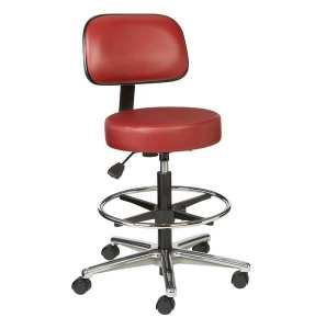 Brewer Model: VBRM-3-C Ophthalmic Round Series Exam Stool w/ Backrest