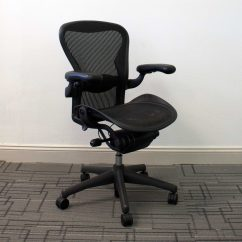 Herman Miller Used Office Chairs Black Resin Aeron Size B Vision Interiors
