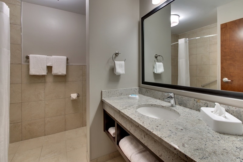 Drury Approved Photography for Drury Inn and Suites Columbus Polaris Guest Bathroom 02 2