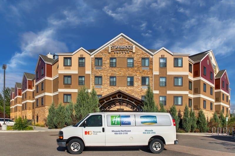 IHG Approved Hotel Photography for Staybridge Suites Missoula Shuttle