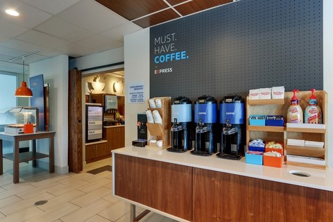 Hotel photography of Holiday Inn Express coffee station