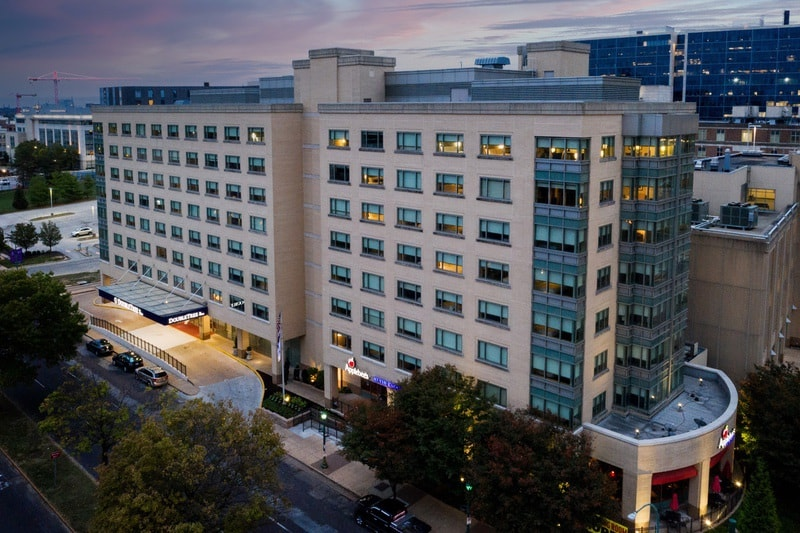 Hilton approved hotel photography for doubletree stl forest park Aerial 14
