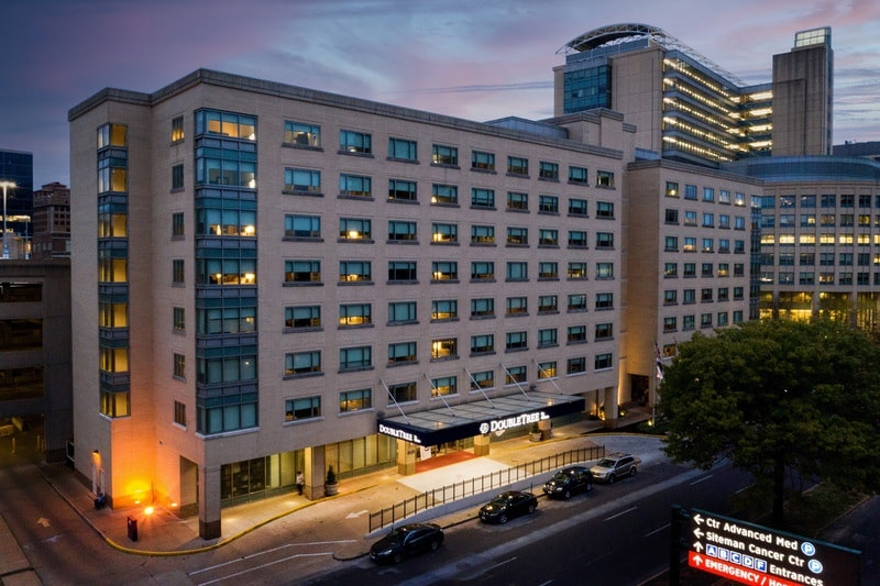 Hilton approved hotel photography for doubletree stl forest park Aerial 17
